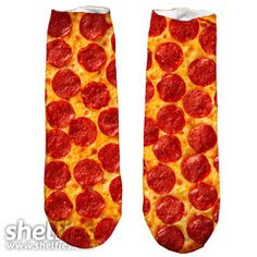 Party Pizza Short Foot Gloves