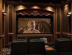 """Westminster"" Theater Design - Heimkino/Home-Movietheater - dekoration Home Theater Screens, Home Theater Room Design, Best Home Theater, At Home Movie Theater, Home Theater Rooms, Home Theater Seating, Cinema Room Small, Home Cinema Room, Westminster"