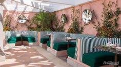 The Glam Pad: The Beverly Hills Hotel: Pink Green Poolside Renovations
