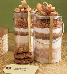 Christmas cookie gift jar #4. Butterscotch chip.