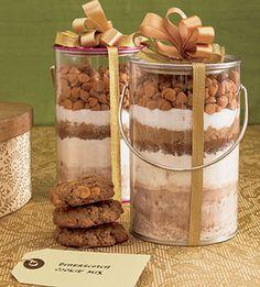 Christmas cookie gift jar #4. Butterscotch chip.