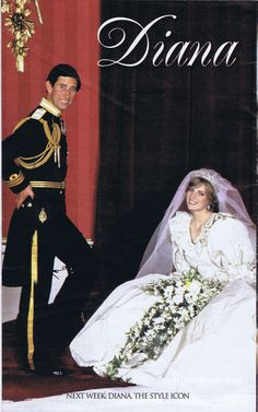 July 29, 1981: Lady Diana Spencer marries Prince Charles at St. Paul's Cathedral in London. Daily Mirror 2007