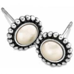 Pearl Luster Mini Post Earrings