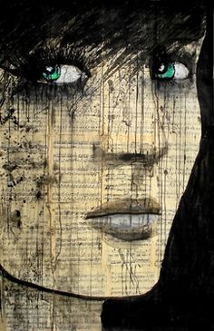 "Saatchi+Online+Artist+Loui+Jover;+Drawing,+""bohemienne+""+#art [""...All my sisters have that attitude: 'Asha has EVERYTHING!' And the abuse won't stop, y'all!"" -Asha]"