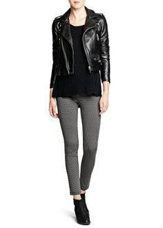 Jeggings, top and jacket