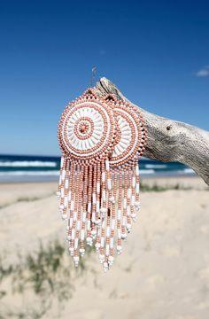 boho peyote earrings