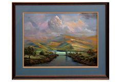 Sun on the Foothills by Michael Swinnie