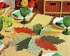 Holiday crafts: Fall leaves crochet patterns