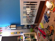 Nico's room now  #roomandboard #annies #yolocolorhouse #RoomToGrow
