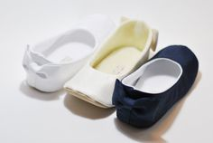 The quality & craftsmanship on these shoes is unmatched! Dupioni Bow back Baby Girl Shoes by LittlePoshBebe, $32.00