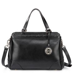 SALE 20 OFF Black Authentic Leather Handbag Hobo by Fungalicious, $85.00