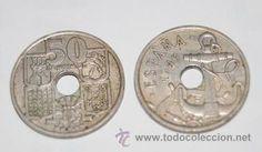 Moneda Franco de 2 Reales o 50 céntimos 1949 * 51 flechas invertidas las de la foto o similares