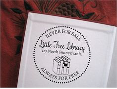 Little Free Library Book Stamp Custom Book by TailorMadeStamps, $21.00