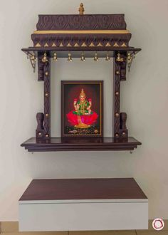 If you are looking for fresh and new pooja mandir designs, we have curated stylish and contemporary pooja room images for you to choose from. Temple Design For Home, Home Temple, Wooden Temple For Home, Mandir Design, Pooja Mandir, Pooja Room Door Design, Latest House Designs, Puja Room, Indian Home Decor