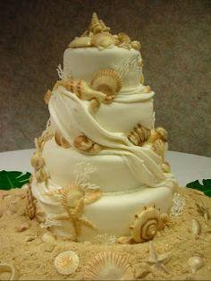 Tiered Beach Cake