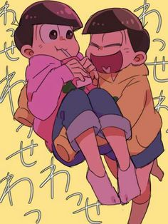 Todomatsu & Jyushimatsu just look at these innocent (well one of them) adorable youngest dorks