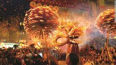 The Mid-Autumn Festival is one of the year's most important and fun celebrations for ethnic Chinese, as well as Vietnamese. The Tai Hang fire dragon dance is a popular festival event in Hong Kong. The dragon is stuck with thousands of incense sticks. #autumn #travel