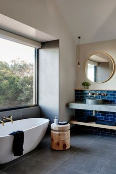 Hidden away on Victoria's Bellarine Peninsula, in the laid-back beach town of Point Lonsdale, lies the new Lon Retreat & Spa perfect for a weekend getaway. Steam Showers Bathroom, Bathroom Spa, Bathroom Faucets, Bathroom Interior, Home Interior, Decor Interior Design, Open Bathroom, Vanity Bathroom, Bathroom Goals