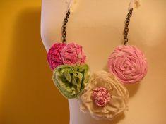 16 Beautiful DIY Ideas About Fabric Necklace