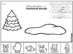 The Mitten_Positional Word Freebie by Ms R Products Positional Words Kindergarten, Kindergarten Reading, Kindergarten Activities, Classroom Activities, Preschool Curriculum, Free Preschool, Homeschool, The Mitten Book Activities, Winter Activities