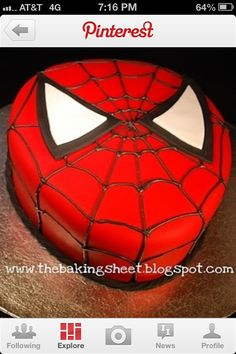 This looks like an easy spiderman cake
