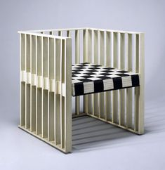 Koloman Moser designed this chair for the first Vienna Secession exhibition, organized by the already-famous Gustav Klimt . The chair would. Koloman Moser, Home Furniture, Furniture Design, Rustic Furniture, Vienna Secession, Design Movements, Art Deco Home, Palette, Arts And Crafts Movement
