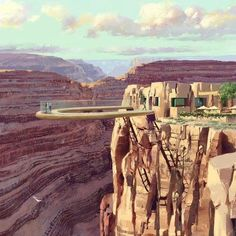 The Grand Canyon Skywalk    The Grand Canyon Skywalk is a transparent horseshoe-shaped cantilever bridge and tourist attraction in Arizona near the Colorado River.