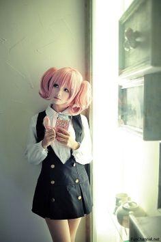Inu x boku ss karuta cosplay in school uniform