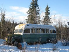 "on my bucket list to hike there! ""The Magic Bus"", Fairbanks Bus 142 / Alaska"