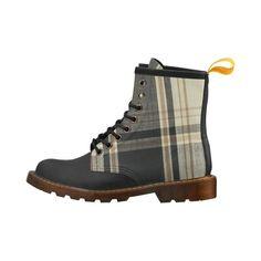 Black Plaid Boot  Women