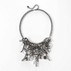 Simply Vera Vera Wang Two Tone Bead Bib Necklace