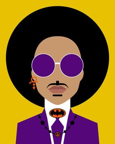 Prince Rogers Nelson Print Yellow Prince Wall par ColorLab2016