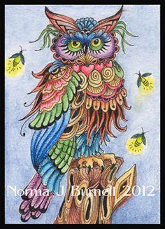 """Owl"" par Norma Burnell"