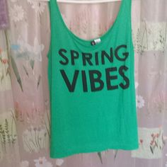 Divided tank top Vibrant colored tank with logo.100%rayon.Cute tank bit too big for me Divided Tops Tank Tops