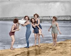 """""""Icecapade, 1924"""" (Colorized) from Shorpy's files."""