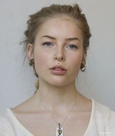Anna April - first, totally gorgeous.  second,septum, side nose, medusa, and lip - just sayin'