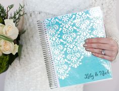 Tackle to-dos before saying I dos with the best-selling Wedding Planner, featuring wedding checklists & charts, budgeting & monthly planning spreads & everything you need to plan your. Wedding Binder, Wedding Book, Erin Condren Wedding Planner, Secret Santa, Engagement Gifts, Hostess Gifts, Wedding Season, Creative, Lily