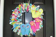 DIY Summer  : DIY flip flops to the wreath