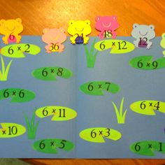 Multiplication file folder game, 3rd grade