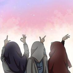 Cartoon Girl Images, Girl Cartoon, Cartoon Art, Friend Cartoon, Friend Anime, Islamic Girl Pic, Beautiful Girl Drawing, Anime Friendship, Islamic Cartoon