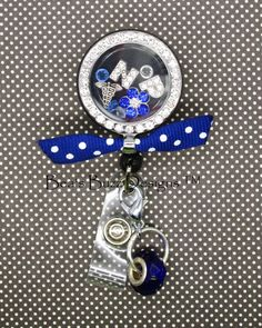 Retractable Badge Reel Name Tag ID Pull Clip Holder Lanyard Los Angeles LA Kings