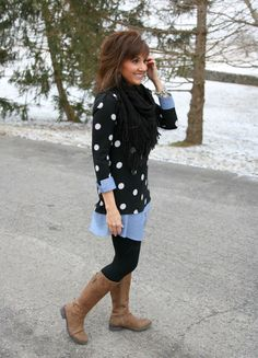 Polka Dot Tunic with