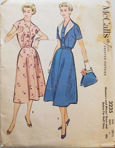 Vintage 1955 McCall's Misses' Dress and by NostalgiaVintage2, $13.50