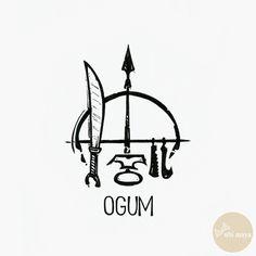 """OGUM - DA SÉRIE: """"AS ARMAS DOS ORIXÁS"""" - See https://s-media-cache-ak0.pinimg.com/originals/45/d9/ea/45d9ea9b197f195baf48f08a9ce62818.jpg"""