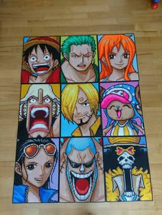 One Piece Strawhat crew - big portraits by MagicPearls