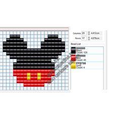 Mini Cross Stitch, Beaded Cross Stitch, Simple Cross Stitch, Loom Patterns, Beading Patterns, Cross Stitch Designs, Cross Stitch Patterns, Logo Disney, Pixel Art