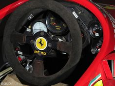 1984 Ferrari 126 C4 Formula 1 Racing Car cockpit, would love to be strapped in to this beat.