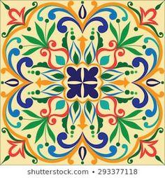 Clay Tiles, Painting Process, Tile Patterns, Tile Design, Islamic Art, Decoupage, Scrap, Pottery, Hand Painted