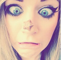 OMG THERE IS FOOD ON MY FACE *eats it* yep that's chocolate -Marina