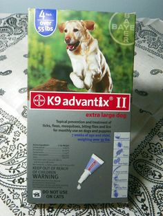 Advantix Flea & Tick Control for Dogs Over 55 lbs 6 Month Way Repel-and-Kill Pest Protection. Advantix combines imidacloprid and permethrin to repel and kill ticks, fleas, and mosquitoes that may cross your dog's path. Each ingredient begins t Kill Fleas On Dogs, Tick Control For Dogs, Brown Dog Tick, Deer Ticks, Ticks Remedies, American Dog, Google Plus, Boxing, Gatos